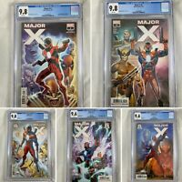 (Lot Of 5) Major X #1, (1:25), #2, (1:25), #3 All CGC Graded Slabs Rob Liefeld