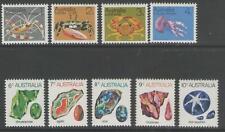 AUSTRALIA SG545/52a 1973-4 MARINE LIFE AND GEMSTONES MNH