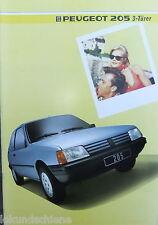 Peugeot 205 3 Türer  Prospekt  1985   #157