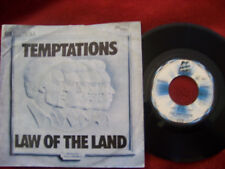 The Temptations - Law of the land / Run Charlie run   German Motown 45