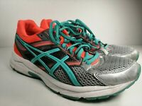 Asics GEL Contend 3 T5F9N Running Shoes Womens Size 8.5 Coral Teal Gray