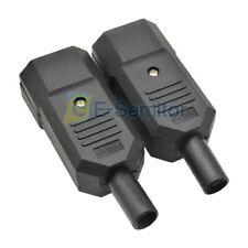 [5PCS] IEC-320 C14 Black Male Plug 3Pin AC Power Inlet Socket Connector 250V 10A