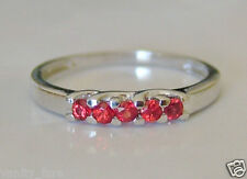 Beautiful 9ct White Gold Sunset Sapphire Eternity Ring Size N 1/2