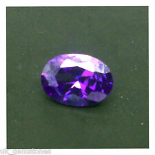 Purple Cubic Zirconia 7x5 Oval, Brilliant Cut AAAAA Grade.  1 Stone