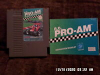 R.C. Pro Am: Nintendo NES Game w/ Instruction Manual Booklet