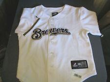 NWT MAJESTIC MILWAUKEE BREWERS MLB JERSEY WHITE-KIDS-LARGE 7