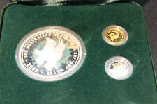 2005 AUSTRALIA MINI OUTBACK COLLECTION GOLD,PLATINUM,SILVER COIN SET