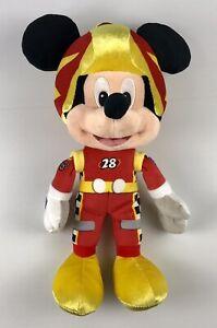Vintage Mickey Mouse Disney Race Car Driver Plush Kids Toy 25cm 10 Inch