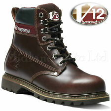 V12 Boulder Steel Toe Cap Lace up Leather Safety BOOTS V1236 UK 10 - EU 44