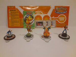 Pokemon Trading Figure Game Lot Charizard, Red, Piplup, Doduo TFG w/ Play Mat