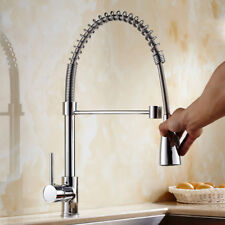 Modern Kitchen Mixer Tap with Pull Out Hose Spray Single Lever Chrome