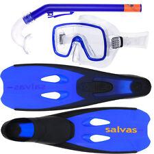 Schnorchel-Set SALVAS Cancun für Kinder Flossen Taucherbrille und Schnorchel SET