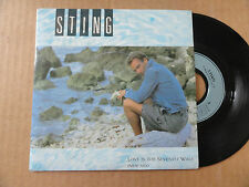 "DISQUE 45T DE  STING  "" LOVE IS THE SEVENTH WAVE """
