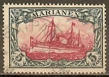 1901 German colonies MARIANA ISLANDS  5 Mark issue used,  cat. $ 750.00