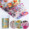Tips Starry Sky Nail Art Stickers Holographic Decals Nail Foil Manicure Decor