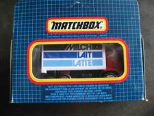 Mint boxed Matchbox Superfast Kelloggs / Milch Lait Latte 72 Dodge commando