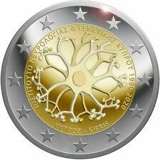 2 euro commemorative Chypre 2020 30 ans de l'institut de Neurologie et Genetique