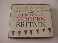 BBC A History of Modern Britain. Written and read by Andrew Marr. 6 CDs 6 hrs