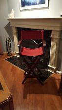 Pier 1 - 30 inch Bar Height Directors Chairs - 6 identical stools for sale