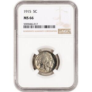 1915 US Buffalo Head Nickel 5C - NGC MS66