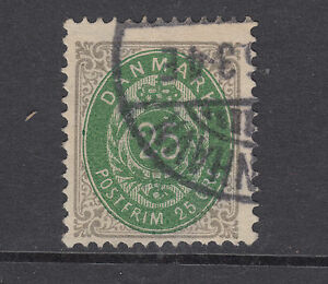 Denmark Sc 32a used 1875 25o Numeral w/ Inverted Frame, well centered