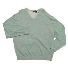 Roundtree & Yorke Light Heather Green Cotton V-Neck Sweater 3XB Big & Tall NEW