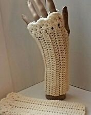 Crochet Fingerless Gloves~Adult Size~Color is Aran