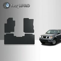 ToughPRO Floor Mats Black For Nissan Frontier (Crew Cab) All Weather 2005-2021