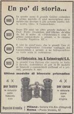 Z2777 Binocolo LA FILOTECNICA Ing. Salmoiraghi - Pubblicità d'epoca - 1923 ad