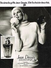 PUBLICITE ADVERTISING 024   1977   JEAN DESSES  parfum sweaters