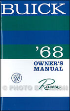1968 Buick Riviera Owners Manual NEW Owner User Instruction Guide Book