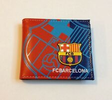 NEW FC Barcelona Soccer 2017 Messi Neymar Suarez Wallet Leather US SELLER!