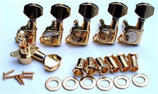 Guitar Parts Wilkinson EZ E Z Lok 6 in Line Tuners Set Gold