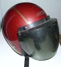 Vintage DOT Motorcycle Cycle Helmet 1989 Removable Full Face Tilt Up Visor