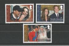 SOUTH GEORGIA 2011 ROYAL WEDDING U/MM N/H SG,529-531 LOT 2461A