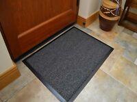 Hall Carpet Runner 80x60cm Hallway Rug Barrier Mat Dirt Stopper Non Slip Black