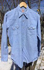 Original Vintage Levis Big E Era Short Horn Western Wear Sawtooth Shirt. Rare!