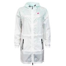 Nike Rain Thin Long Zip Hood Wind Runner Jacket Womens White 382165 100 M18