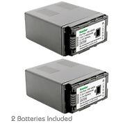 2x Kastar Battery for Panasonic VW-VBG6 AG-AC7 AG-AC130 AG-AC160 AG-AF100 HMC40