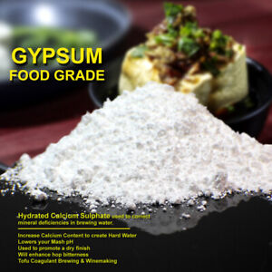 ORGANIC Gypsum Powder FOOD GRADE Natural Calcium Sulphate Coagulant Sulfate