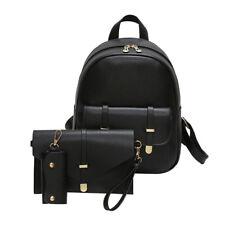 3PCS Women Backpack Rucksack Handbag Travel Shoulder School Bag Card Purse New