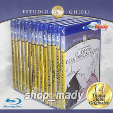 Pack Studio Ghibli Blu-Ray en ESPAÑOL LATINO 14 Movies New!!