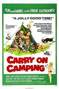 Home Wall Art Print - Vintage Movie Film Poster - CARRY ON CAMPING - A4,A3,A2,A1