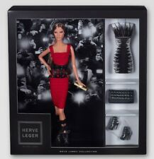 NEW Herve Leger by Max Azria Collectors Barbie Doll Gold Label 2013 MINT Rare!