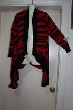 FILO NWT  SZL/XL 12-14 LAYERING CARDIGAN IN BLACK & RED, JUST STUNNING