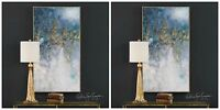 """TWO 53"""" RICH HAND PAINTED CANVAS ABSTRACT PAINTING MODERN DESIGNER WALL ART"""