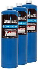 3 Pc Bernzomatic Propane Cylinder 141 Oz