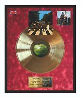 The Beatles - Abbey Road Goldene Schallplatte im Rahmen