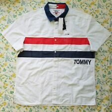 New Tommy Hilfiger Denim Mens Colorful Short Sleeve Custom Fit XL Shirt