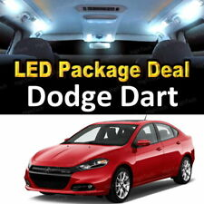 7x White LED Lights Interior Package Deal For 2013 2014 2015 2016 Dodge Dart